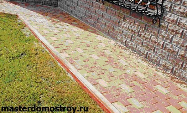 Устройство отмостки, укладка тротуарной плитки